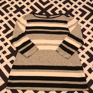 3/4 Sleeve Business Casual Striped Top